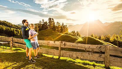 Hiking during a summer holiday in the Kitzbühel Alps in Tirol