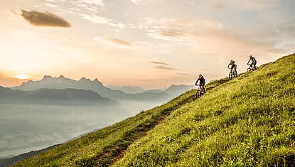 Bike tour during a summer holiday in Kitzbühel
